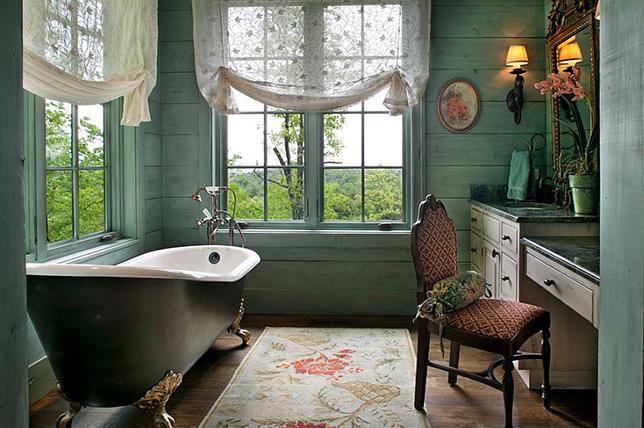 floral rustic bathroom ideas