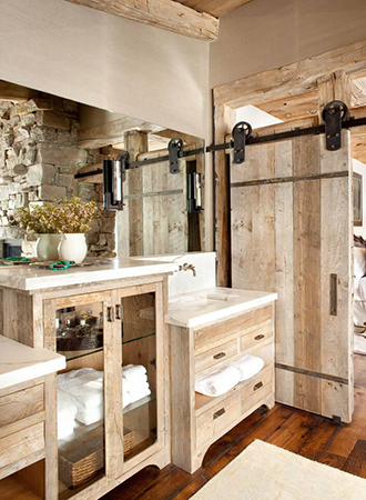 barn door rustic bathroom ideas