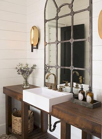 Shiplap rustic bathroom ideas