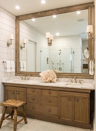 clapboard rustic bathroom ideas
