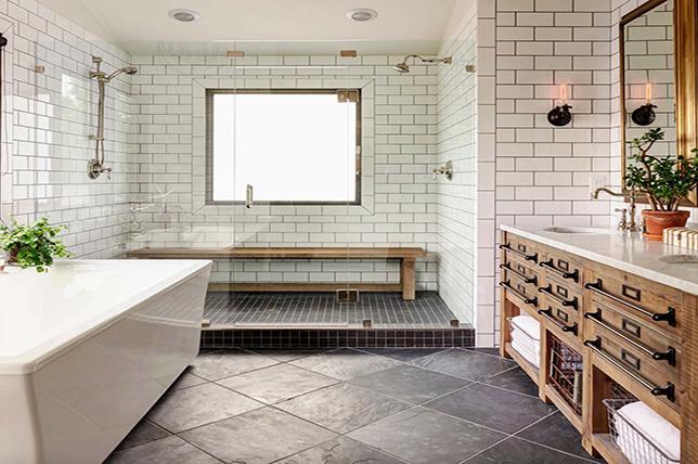 vanity remodeled rustic bathroom ideas