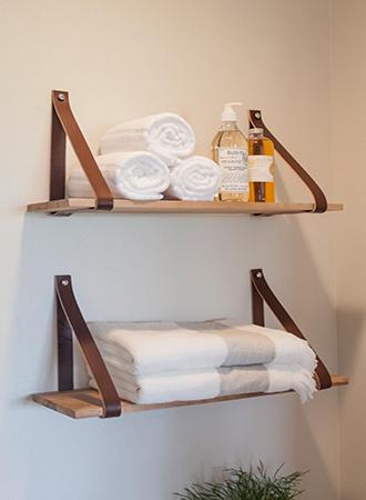 Hallway shelves rustic bathroom ideas