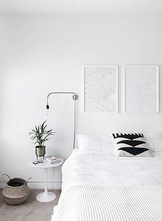 monochrome minimalist bedroom ideas