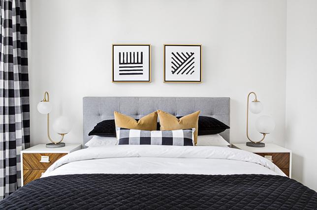 Mid century modern bedroom interior design