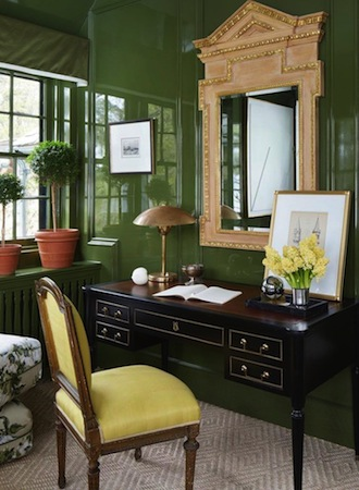 Forest green best interior color for office