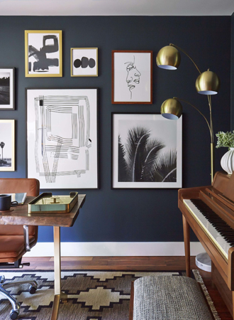 deep blue best interior color for office