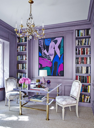 purple best interior color for office