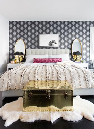 geometric bedroom wallpaper ideas 2019