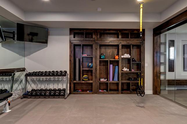 Home gym basement design ideas