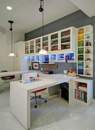 Hobby room basement design ideas