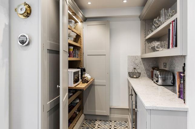 Sliding shelves kitchen cabinet pantry ideas