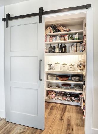 Sliding door kitchen cabinet pantry ideas