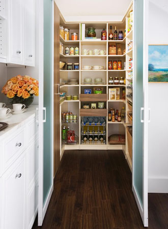 walk-in kitchen cabinet pantry ideas