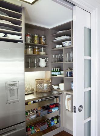 Pocket door kitchen cabinet pantry ideas