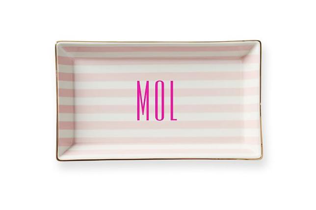 monogrammed catchall Valentine's Day gift ideas