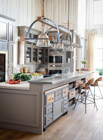 multi-story kitchen island