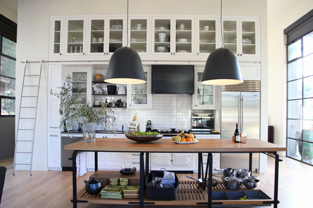 open shelf kitchen island