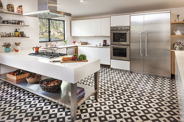 Ideas for kitchen floors made of light laminate 2019