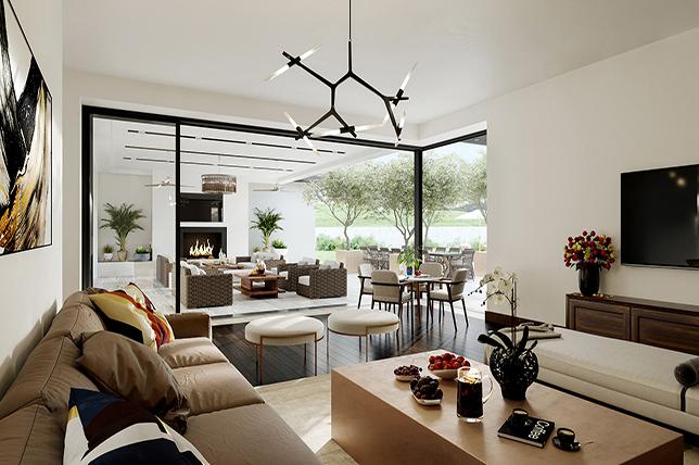 curved living room interior design trends 2019