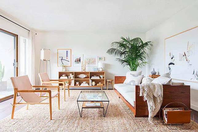 modern boho living room interior design trends 2019