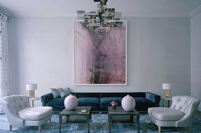 Pastel living room interior design trends 2019