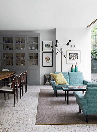 Terrazzo Living Room Interior Design Trends 2019