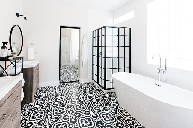 Black and white bathroom floor ideas 2019