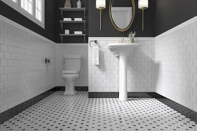 Vintage inspired bathroom floor ideas 2019