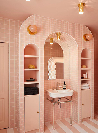 modern pink bathroom floor ideas 2019