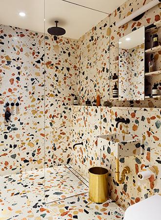 Terrazzo bathroom flooring ideas 2019