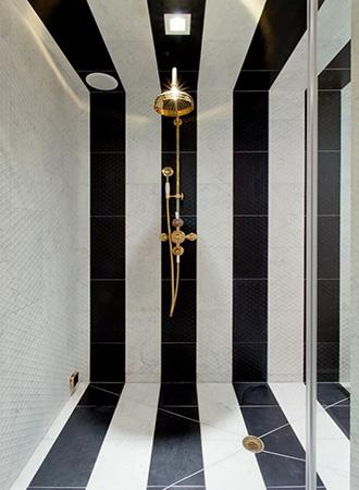 Striped bathroom floor ideas 2019