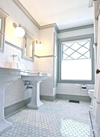 Mini hexagon bathroom floor ideas 2019