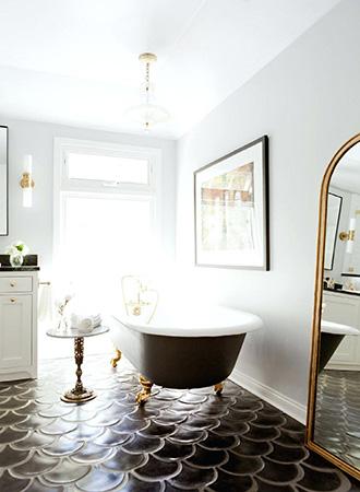Black bathroom floor ideas 2019