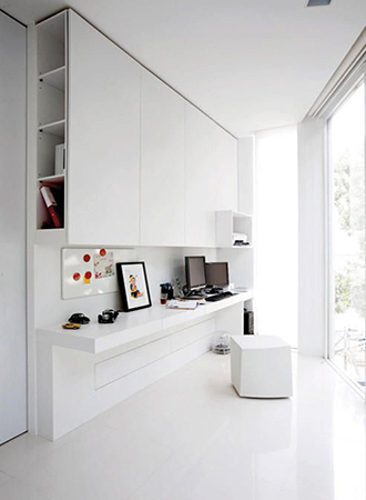 monochrome office design ideas