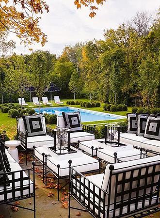 Outdoor Garden Ideas iron furniture