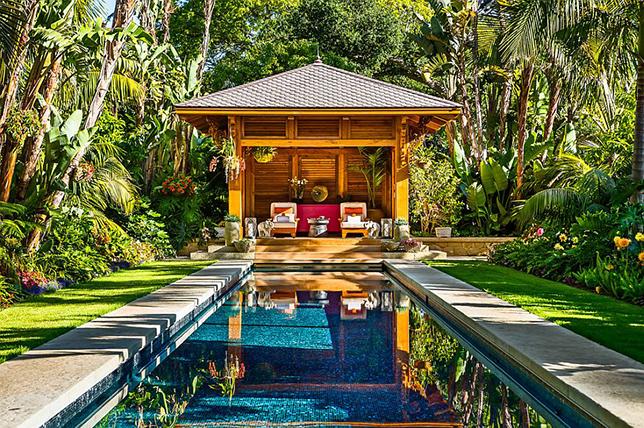 outdoor tropical garden ideas