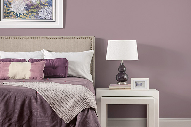 purple bedroom colors