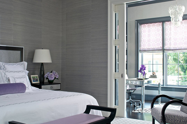 gray purple bedroom colors