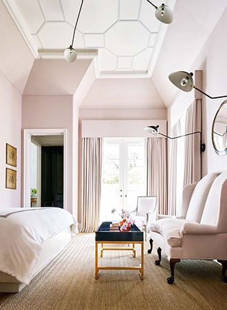 dusty pink bedroom colors