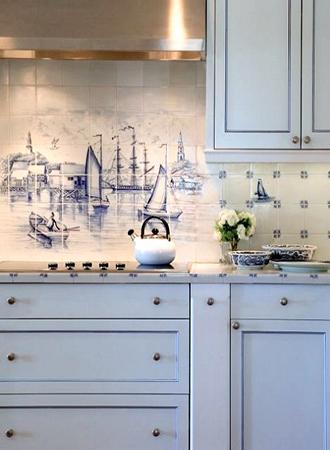 nautical wall tiles kitchen backsplash