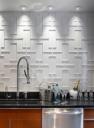shaped kitchen backsplash
