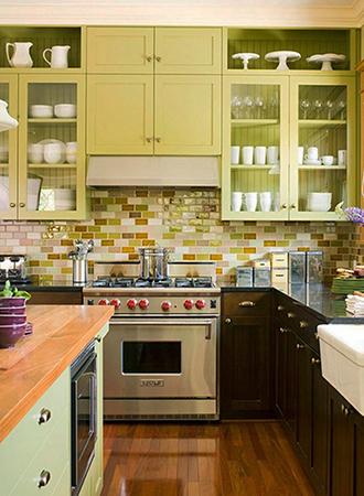 yellow kitchen setback