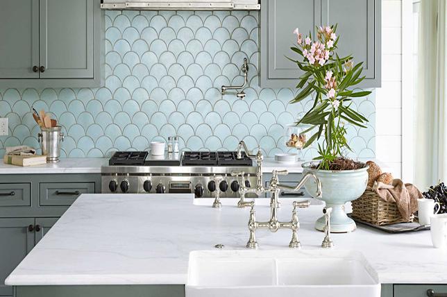 scalloped kitchen backsplash