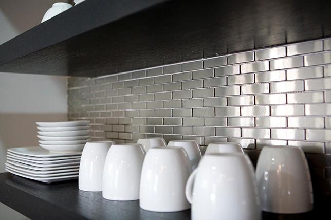 Backsplash from brick kitchens