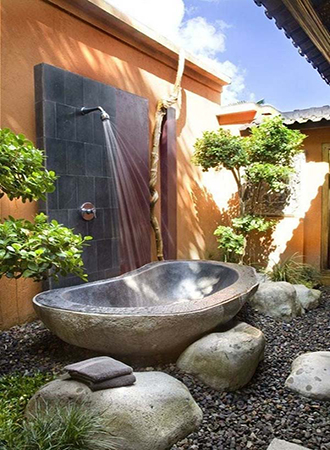 Outdoor shower backyard ideas