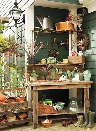 Potting soil backyard ideas