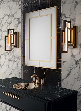 Art deco bathroom mirror 2019