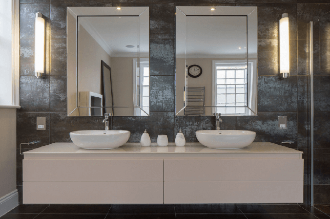 minimal double bathroom mirror 2019