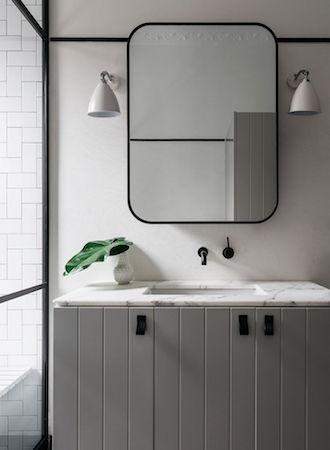 dark framed bathroom mirror 2019