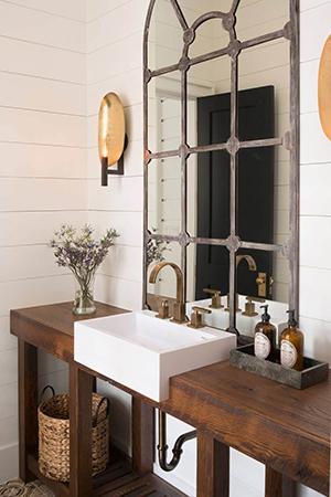 Farmhouse window pane bathroom mirror 2019